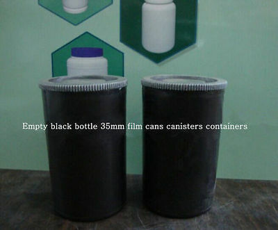 1001PCS Empty black bottle 35mm film cans canisters containers