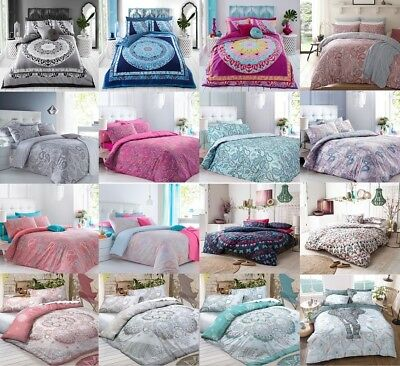 New Duvet Cover Quilt Set With Pillow Case Single Double King Super King Bedding