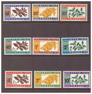 Rwanda MNH 1963 The 1st Anniversary of Independence ,Plants  set mint stamps