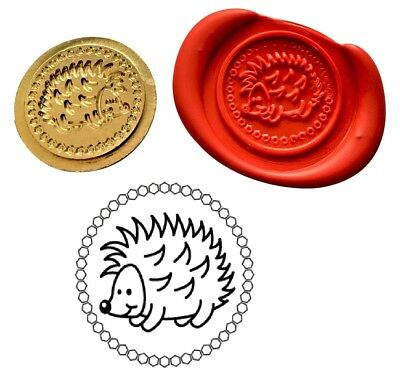 Hedgehog Animal Wax Stamp Seal Starter Kit or Buy Coin Only. XWS039B/XWSC348