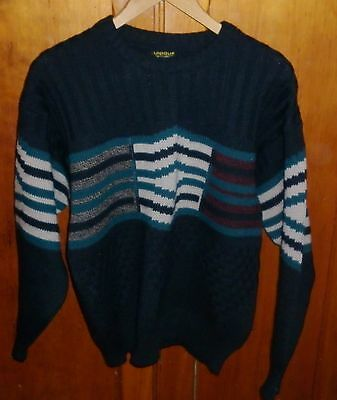 VINTAGE  1980s AUSTRALIAN MADE PURE WOOL JUMPER EXCELLENT CONDITION