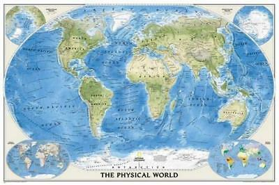 The Physical World, Poster Size, Tubed: Wall Maps World by National...