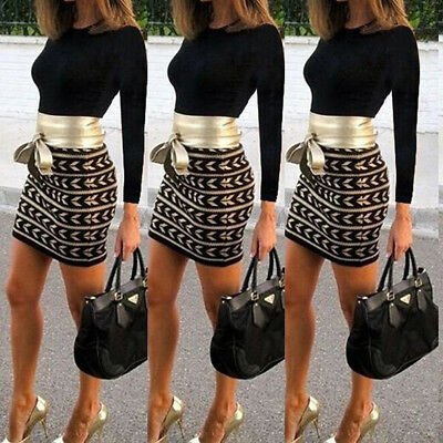 Womens Ladies Sexy Long Sleeve Bodycon Mini Dress Evening Party Cocktail Nice