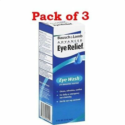 Bausch and Lomb Advanced Eye Relief, Irrigating Solution, 4oz(Pack of 3)