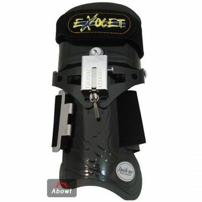 LOCK ON EXOCET BLACK SCORPION RIGHT Hand Bowling Wrist Support Accessories_NU