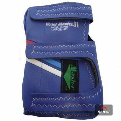 MASTER 2 BAND BLUE RIGHT Hand Bowling Wrist Support Accessories Sports_NU