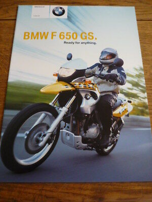 Bmw F 650 Gs Motorbike Brochure 2003