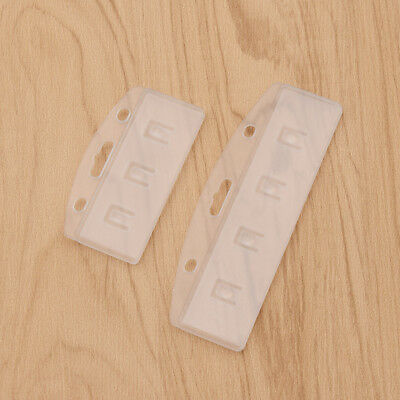10pcs Half Card Badge Holder Vertical Horizontal Rigid Plastic For Swipe ID