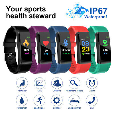 115 Plus Smartwatch Pedometer Cell Phone Wrist Watch Fitness Tracker Sport Color