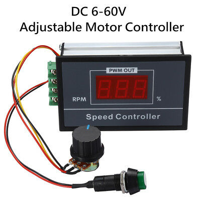 DC 6-60V Motor Speed Controller Switch 12V 24V 36V 48V 30A PWM Adjustable