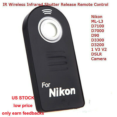 IR Wireless Infrared Release Remote Control for Nikon DSLR Camera ML-L3 US