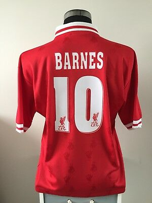 abe0cac38 BARNES  10 LIVERPOOL Home Football Shirt Jersey 1996 97 (L) - £64.99 ...