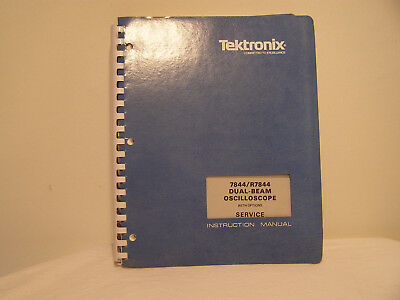 Tektronix Dual-Beam Oscilloscope 7844/R7844 Service Instruction Manual