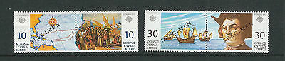 CYPRUS 1992 500th Ann. of DISCOVERY of AMERICA w/SPECIMEN ovpt VF MNH