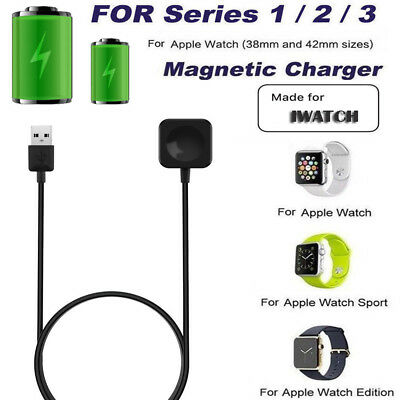 For Apple Watch Series 1/2/3 iWatch Magnetic Charger Charging Pad Cable 38/42mm