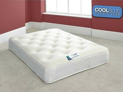 """Touch COOL BLUE Memory Foam Mattress - 10"""" Thickness - 3ft - 4ft - 4ft6 - 5ft"""