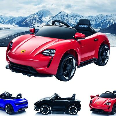 Porsche Taycan Style Kids Ride On Car 12V Battery Electric - Parental Remote MP3
