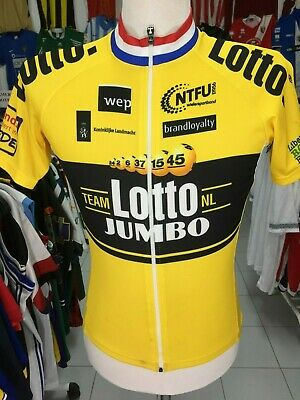 RadTrikot Team Lotto Jumbo (S) Bio Racer Jersey Cycling Shirt Full Zip  Holland 4faf8847c