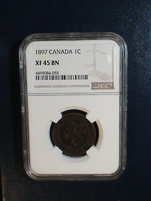 1897 Canada Cent NGC XF45 BN 1C Coin PRICED TO SELL RIGHT NOW!