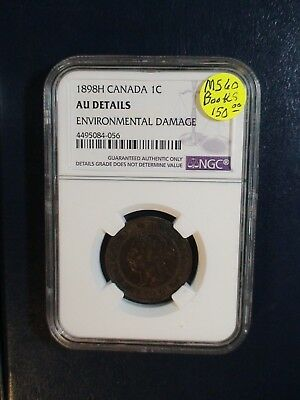 1898H Canada Cent NGC AU HEATON MINT 1C Coin PRICED TO SELL RIGHT NOW!