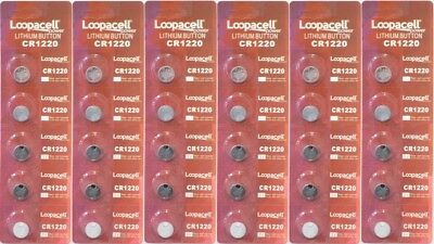 30 NEW CR1220 3V Lithium Coin Battery  FRESHLY NEW LOOPACELL!!