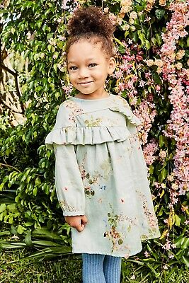NEXT Green Floral Dress (3mths-5yrs) ( RRP 13.00-14.00 ) -3-6 Years (RRP18.00 )