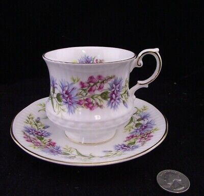 QUEENS WILD FLOWERS    TEA or COFFEE CUP AND SAUCER