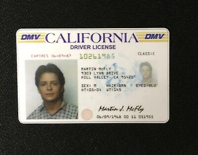 Back to the Future - Drivers License Prop Marty McFly Novelty Memorabilia