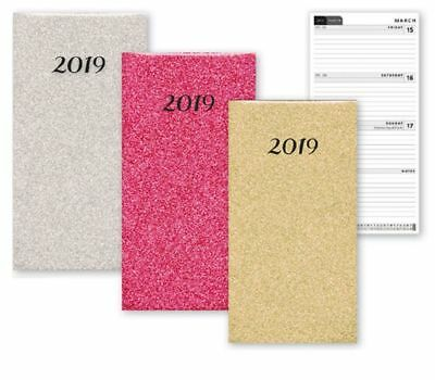 2019 Slimline Week To View Diary Glitter Fashion Home Office
