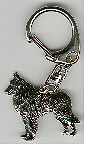 Belgian Shepherd Sheepdog Nickel Silver Key Ring Key Chain Jewelry