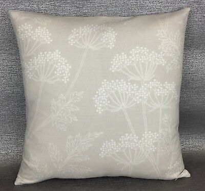 """Double Sided 18/"""" * JOHN LEWIS /""""Speckled/"""" Cushion Cover Wool Mix Fabric Natural"""