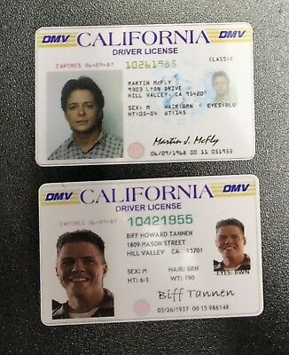 Back to the Future 2 - Marty McFly & Biff Tannen License - Prop Bundle Package
