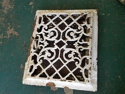 ornate antique castiron grate with louvers floor grate