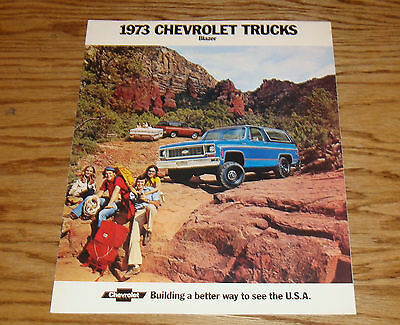 Original 1973 Chevrolet Blazer Sales Brochure 73 Chevy
