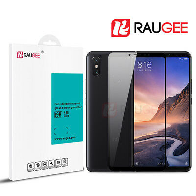 Xiaomi Mi Max 3 Tempered Glass Screen Protector Full Cover Film 9H 2.5D RAUGEE
