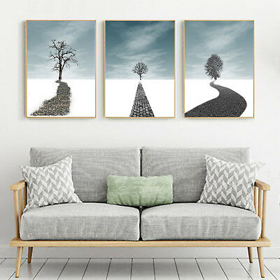Abstract Art Dream Road Canvas Nordic Poster Modern Paint Decor Unframed A274