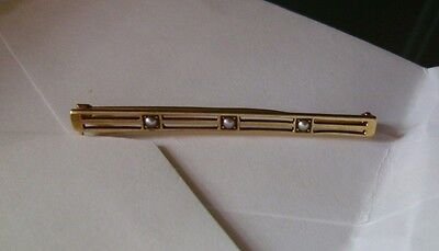 14kt Gold Antique Pin with Seeded pearls