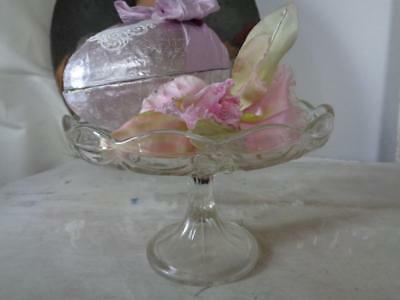 Antique Foot Bowl Pressed Glass