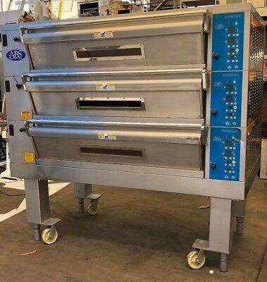 American Bakery Systems  ABS 3-Pan Electric Deck Ovens USED Bakery Equipment