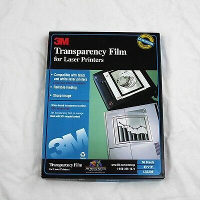 "3M Transparency Film For Laser Printers  8 1/2"" x 11"" Open Box Only 31 Sheets"