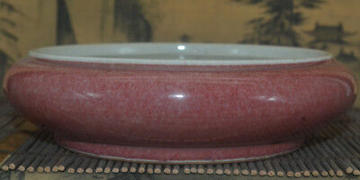A72 Excellent Rare Chinese Nu'er Hong Glazed porcelain Red Writing Brush Washer