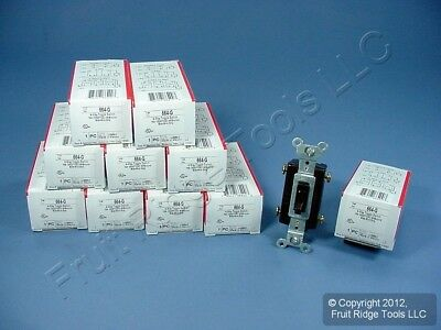 10 Pass and Seymour Brown 4-WAY COMMERCIAL Toggle Wall Light Switches 15A 664