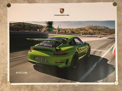 2018 Porsche 911 GT3 RS Coupe Showroom Advertising Poster RARE!! Awesome L@@K