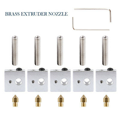 15PCS  0.4mm MK8 Extruder Nozzle Print Heads 1.75mm ANET A8 3D Printer Kit