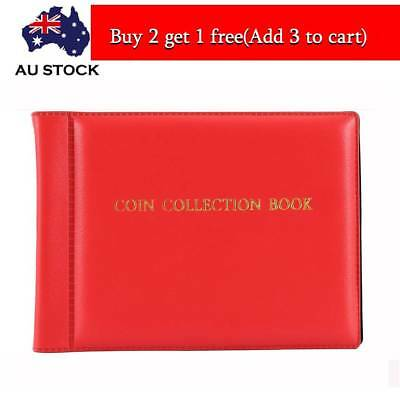 60 Coin Holders Collection Storage Money Penny Pockets Album Book Collecting