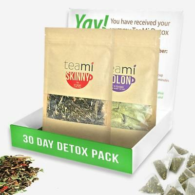 30 Day Detox Tea Kit   2 Step Weight Loss Cleanse & Detox Teatox Skinny By Teami