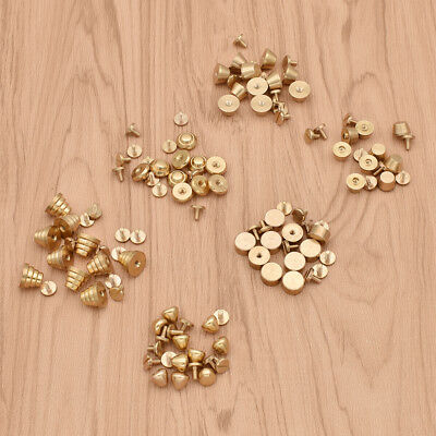 10 Pc Brass Rivet Screws Stud for Leather Craft Decoration Accessories Metal DIY