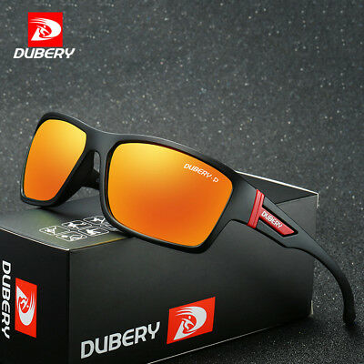DUBERY Mens Polarized Sport Sunglasses Square Outdoor Riding Fishing Eyewear New