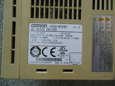 Omron Servo Drive R88D-Wt04H Used Free Expedited Shipping R88Dwt04H L