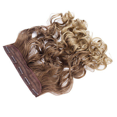 "22"" One Piece Clip In Hair Extension Wavy Ash Brown/Sandy Blonde Ombre 10/24"